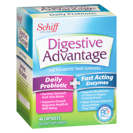 Schiff Digestive Advantage Probiotics & Enzymes Supplement - 40 ea