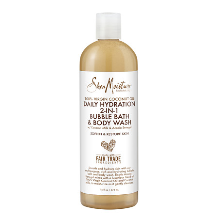 SheaMoisture 100% Virgin Coconut Oil Daily Hydration 2 in 1 Bubble Bath and Body Wash - 16 fl oz