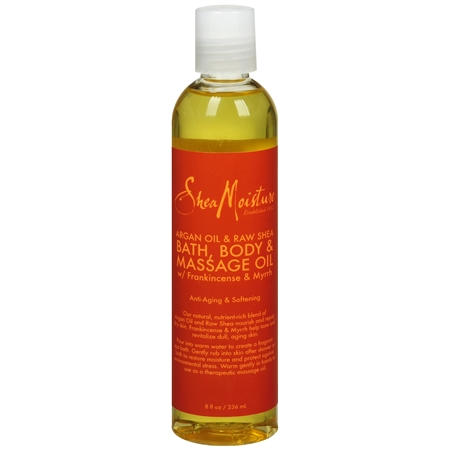 SheaMoisture Bath, Body & Massage Oil Argan Oil & Raw Shea - 8 oz.