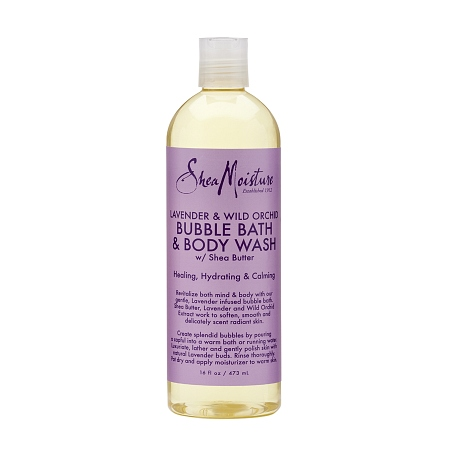 SheaMoisture Bubble Bath & Body Wash Lavender and Wild Orchid - 16 oz.