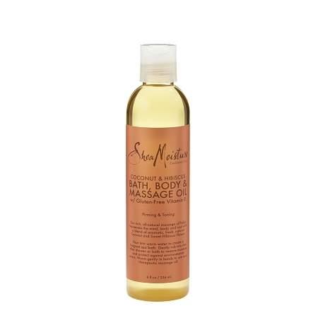 SheaMoisture Coconut & Hibiscus Bath, Body & Massage Oil - 8 oz.