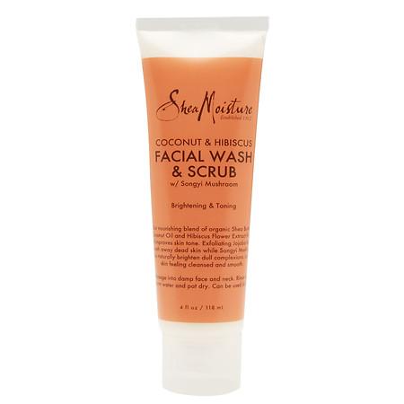 SheaMoisture Coconut & Hibiscus Facial Wash & Scrub - 4 oz.
