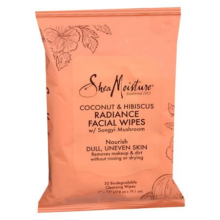SheaMoisture Coconut & Hibiscus Facial Wipes - 30 ea