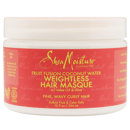 SheaMoisture Fruit Fusion Coconut Water Weightless Hair Masque - 12 oz.