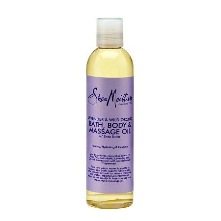 SheaMoisture Lavender & Wild Orchid Bath, Body & Massage Oil - 8 oz.