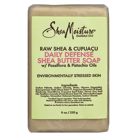 SheaMoisture Raw Shea & Cupuaca Daily Defense Shea Butter Bar Soap - 8 oz.