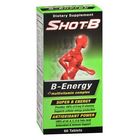 Shot B Energy Tablets - 60 ea