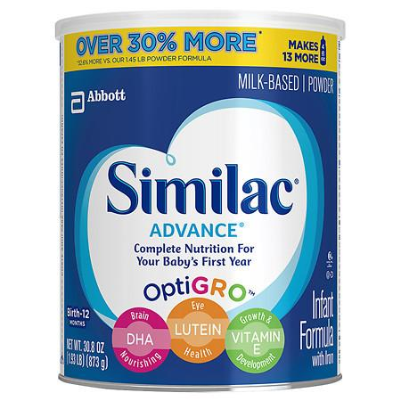 Similac Advance Complete Nutrition, Infant Formula with Iron, Powder - 1.93 lb