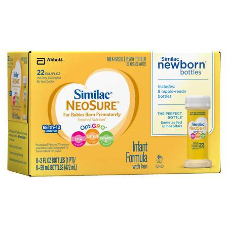 Similac Expert Care NeoSure Infant Formula with Iron, Ready to Feed - 2 fl oz