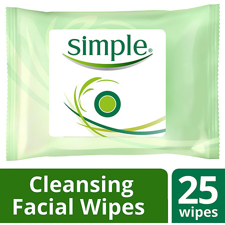 Simple Kind to Skin Facial Wipes Cleansing - 25 ea