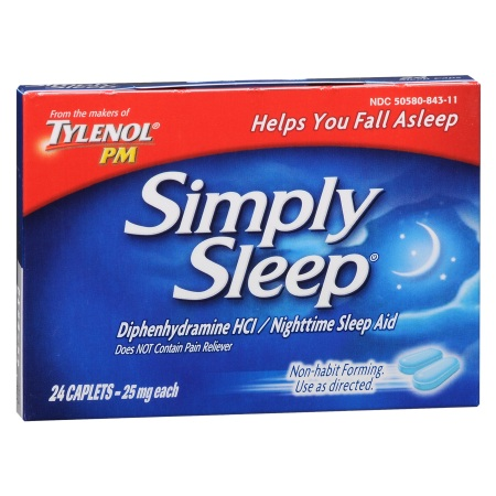 Simply Sleep Nighttime Sleep Aid 25 mg - 24 ea