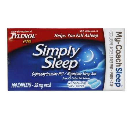 Simply Sleep Nighttime Sleep Aid Capsules - 100 ea