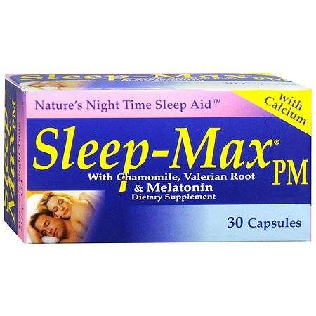 Sleep-Max Nature's Night Time Sleep Aid - 30 ea