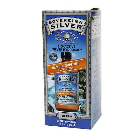 Sovereign Silver Bio-Active Silver Hydrosol, Economy Size - 16 fl oz