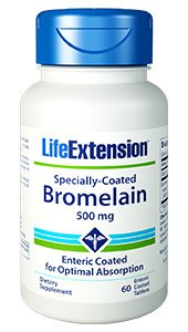 Specially-Coated Bromelain, 500 mg, 60 enteric coated tablets