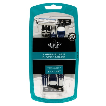 Studio 35 Men's Three-Blade Disposable Razors - 3 ea