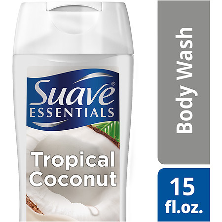 Suave Essentials Body Wash Creamy Tropical Coconut - 15 oz.