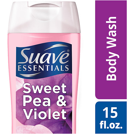 Suave Essentials Body Wash Sweet Pea Violet - 15 oz.
