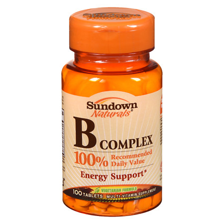 Sundown Naturals B Complex Multivitamin Supplement Tablets - 100 ea