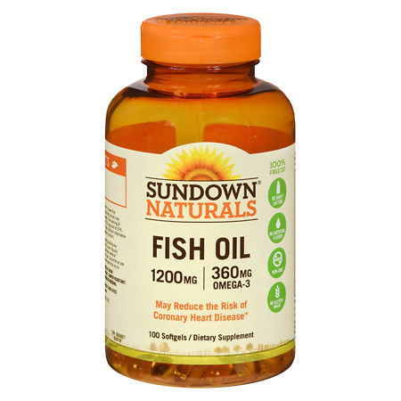 Sundown Naturals Extra Strength Fish Oil, 1200mg, Softgels - 90 ea