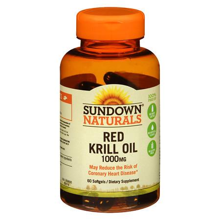 Sundown Naturals Krill Oil 1000 mg Dietary Supplement Softgels - 60 ea