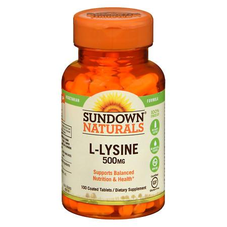 Sundown Naturals L-Lysine 500 mg Dietary Supplement Tablets - 100 tablets