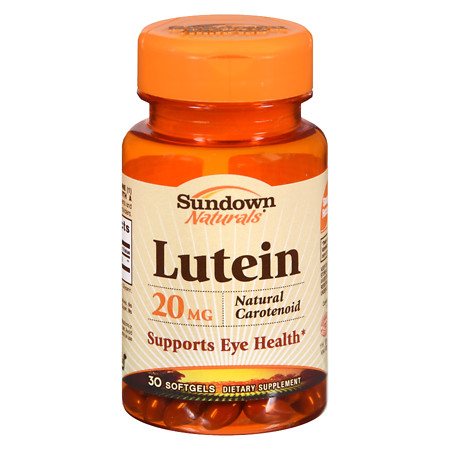 Sundown Naturals Lutein, 20mg, Softgels - 30 ea