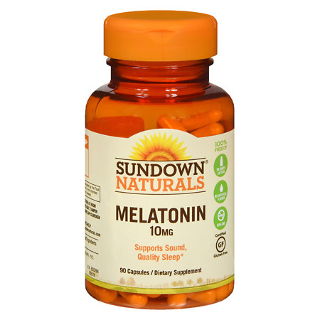 Sundown Naturals Melatonin, 10mg, Capsules - 90 ea
