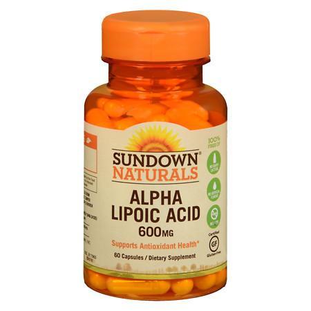 Sundown Naturals Super Alpha Lipoic Acid, 600mg, Capsules - 60 ea