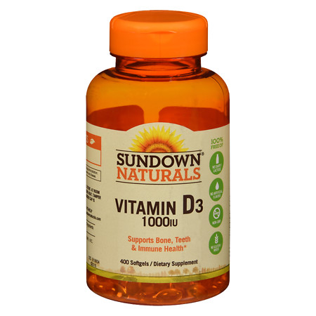 Sundown Naturals Vitamin D3 1000 IU, Softgels - 400 ea