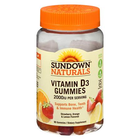 Sundown Naturals Vitamin D3 2000IU Gummies - 90 ea