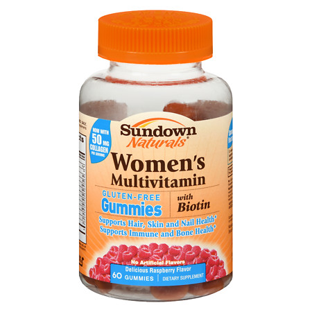 Sundown Naturals Women's Multivitamin with Biotin Gluten-Free Gummies - 60 ea