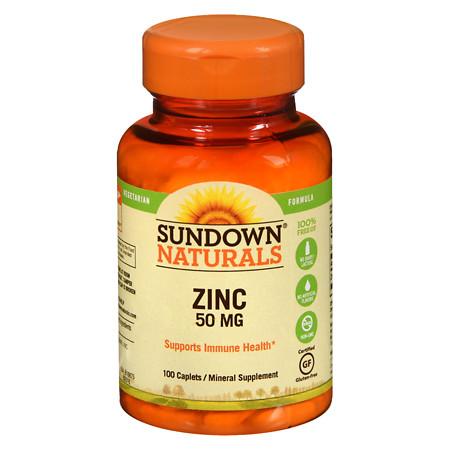 Sundown Naturals Zinc, 50mg - 100 caplets
