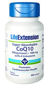 Super-Absorbable CoQ10 (Ubiquinone) with d-Limonene, 100 mg, 60 softgels