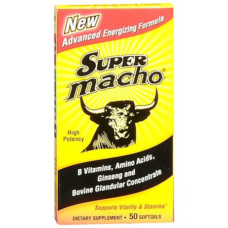 Super Macho Vitality and Stamina Dietary Supplement Softgel - 50 ea.