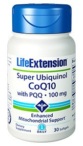 Super Ubiquinol CoQ10 with PQQ, 100 mg, 30 softgels