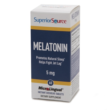 Superior Source Melatonin 5mg, Dissolve Tablets - 60 ea