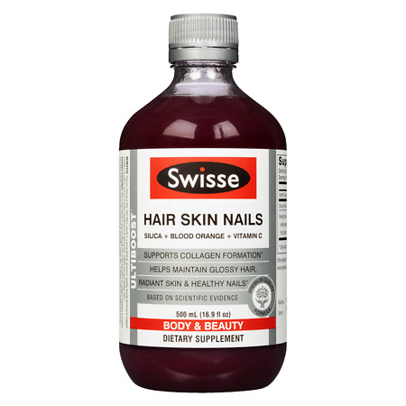 Swisse Ultiboost Hair Skin & Nails Liquid Blood Orange - 16.07 oz.