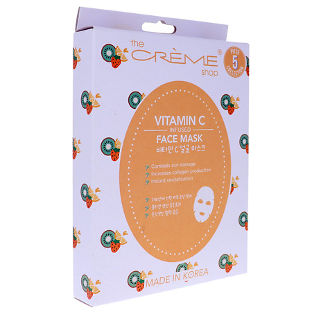 The Creme Shop Vitamin C Sheet Face Mask 5pc Collection - 6.25 oz.