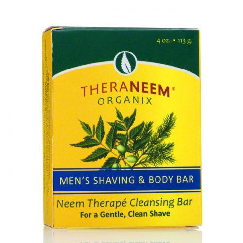 TheraNeem Naturals Men's Shaving and Body Bar, 4 oz