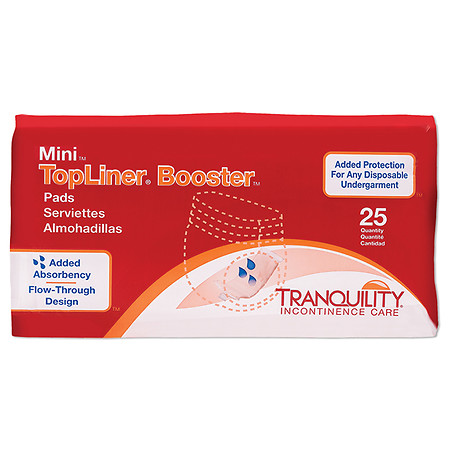 Tranquility TopLiner Mini Booster Pad - 200 ea.