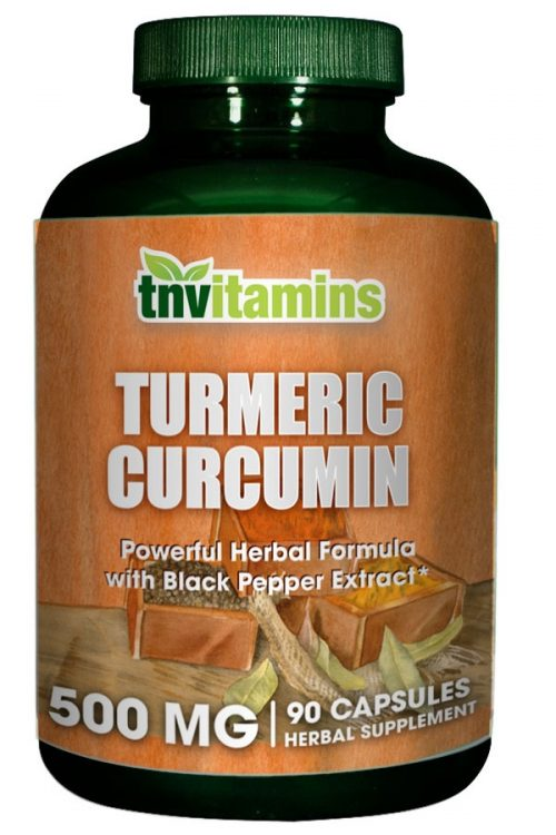 Turmeric Curcumin 500 Mg 90 Capsules W/ Black Pepper Ext