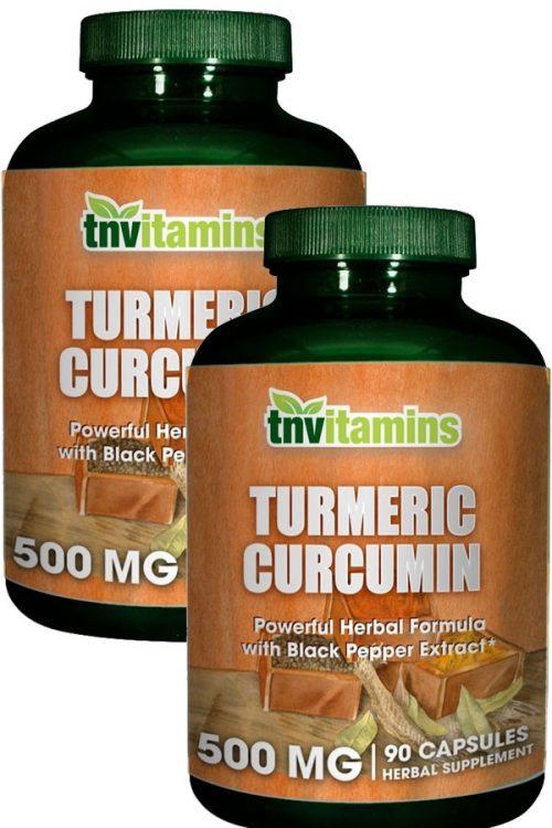 Turmeric Curcumin 500 Mg With Black Pepper Extract