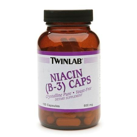Twinlab Niacin B-3 Caps 500 mg Dietary Supplement Capsules - 100 ea
