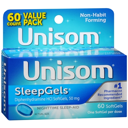 Unisom Nighttime Sleep-Aid SleepGels - 60 ea