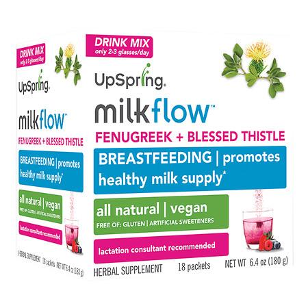 UpSpring Milkflow Fenugreek Mix Berry - 18 ea