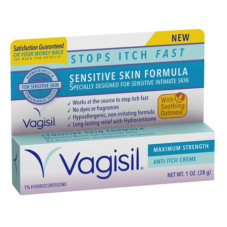 Vagisil Sensitive Skin Formula Maximum Strength Anti-Itch Creme with Oatmeal - 1 oz.