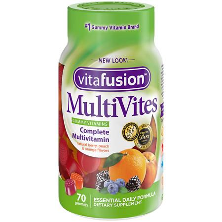 Vitafusion MultiVites, Adult Vitamins, Gummies Natural Berry - 70 ea