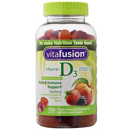 Vitafusion Vitamin D3 2000 IU, Gummy Vitamins t - 150 ea