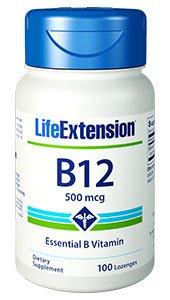 Vitamin B12, 500 mcg, 100 lozenges